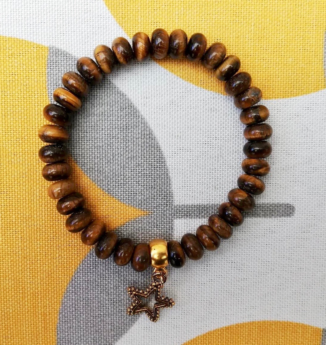 Brown Bead Bracelet With Star Charm