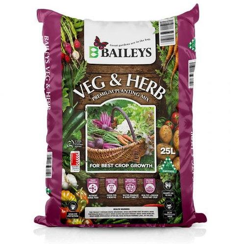 Baileys Veg & Herb Premium Planting Mix 25L