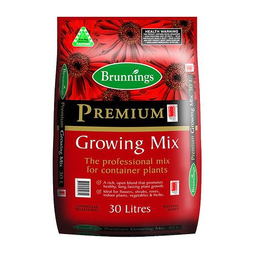 Brunnings Premium Growing Mix 30L