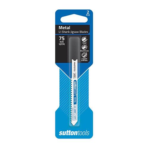 Sutton Tools 2pce Universal Shank General Purpose Metal Jigsaw Blade