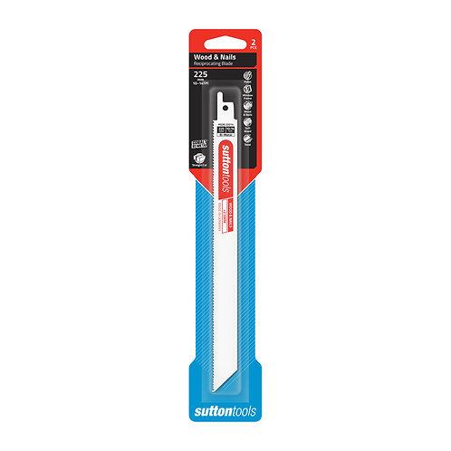 Sutton Tools 2pce Bi-Metal Wood & Nails Reciprocating Blade