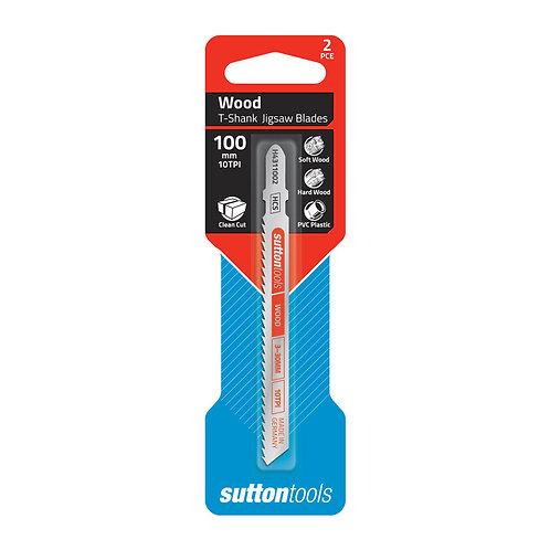 Sutton Tools 2pce Euro Shank Clean Cut Wood Jigsaw Blade
