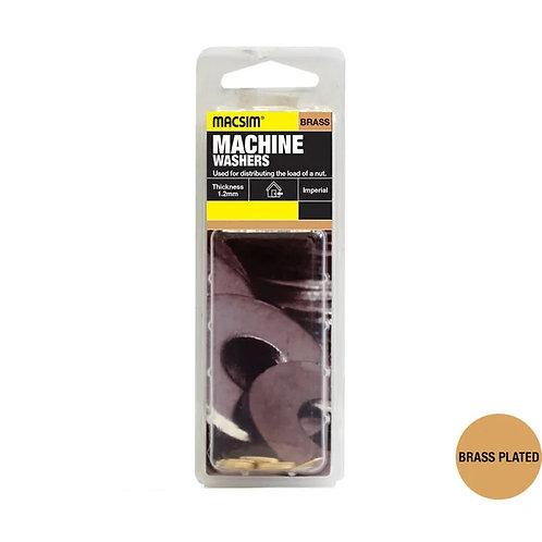 Macsim Machine Washers Imperial Brass