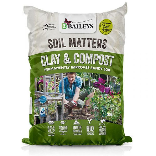 Baileys Soil Matters Clay & Compost 25L