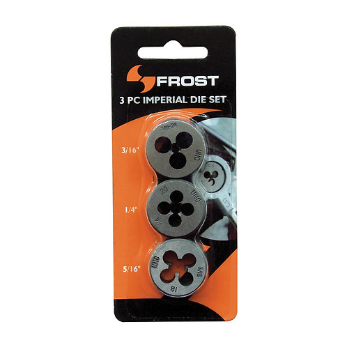 Frost 3pce Imperial Button Die Set