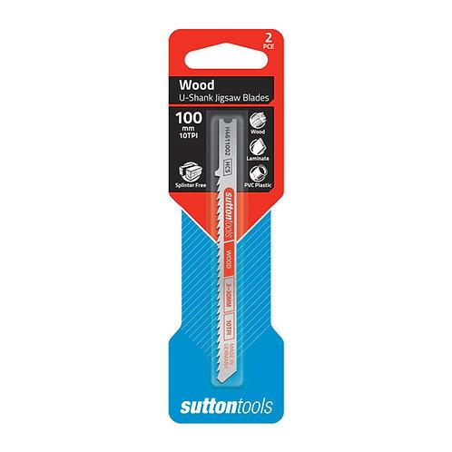 Sutton Tools 2pce Universal Shank Splinter Free Surface Wood Jigsaw Blade