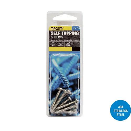 Macsim Self Tapping Screws Pan Phillips 304SS