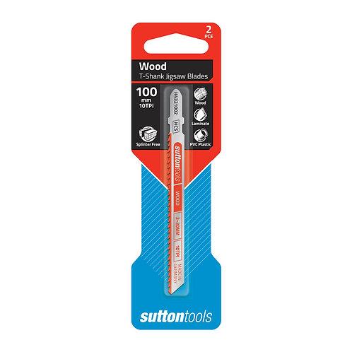 Sutton Tools 2pce Euro Shank Splinter Free Wood Jigsaw Blade