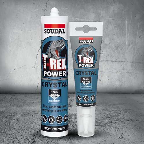 Soudal T-Rex Power Crystal Adhesive