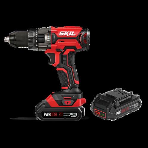 SKIL 20V 13mm Hammer Drill Kit + 2 x 2.5Ah Battery