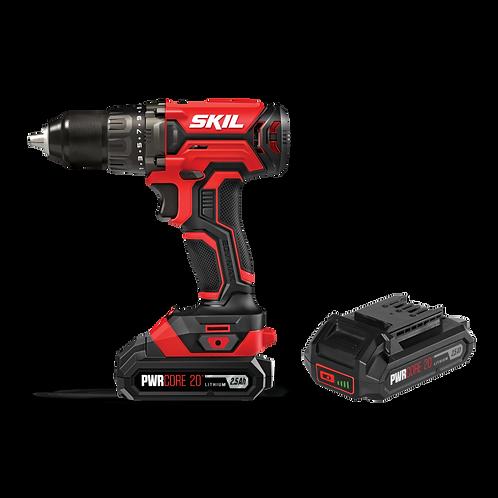 SKIL 20V 13mm Cordless Drill Driver Kit + 2 x 2.5Ah Battery