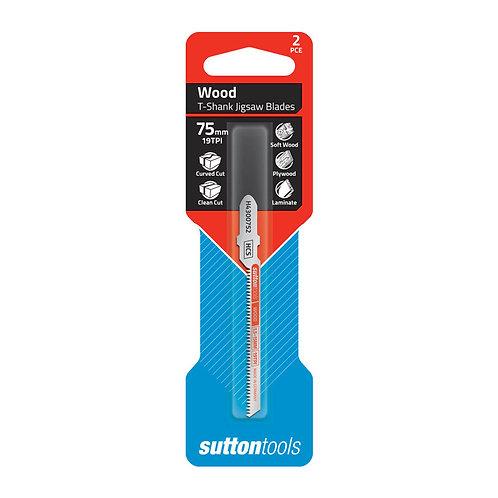 Sutton Tools 2pce Euro Shank Curved Clean Cut Wood Jigsaw Blade