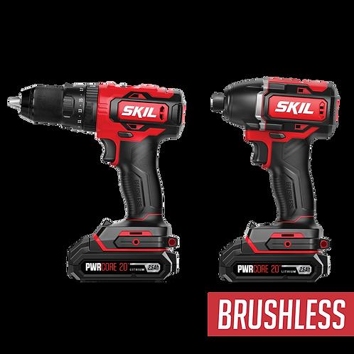 SKIL 20V Brushless Hammer Drill & Impact Driver Kit