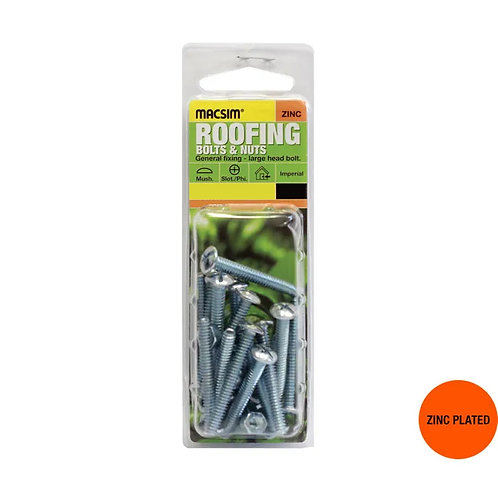 Macsim Roofing Bolts & Nuts Mush Slotted/Phillips ZP