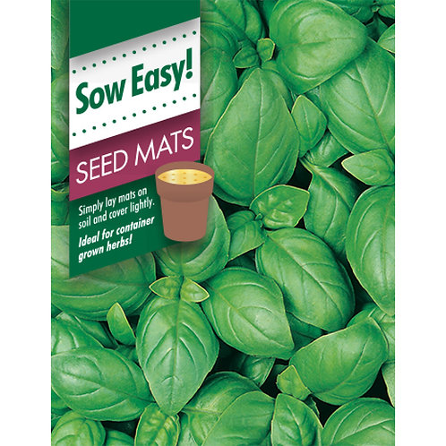 Mr. Fothergill's Packet Seeds Basil Sweet Genovese Seed Mat