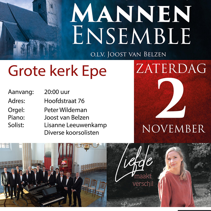Hollands Mannen Ensemble | 2 november Epe