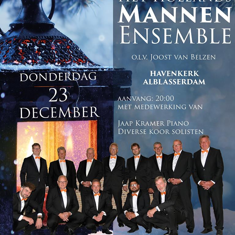 23 december Alblasserdam Kerstconcert Hollands Mannen Ensemble