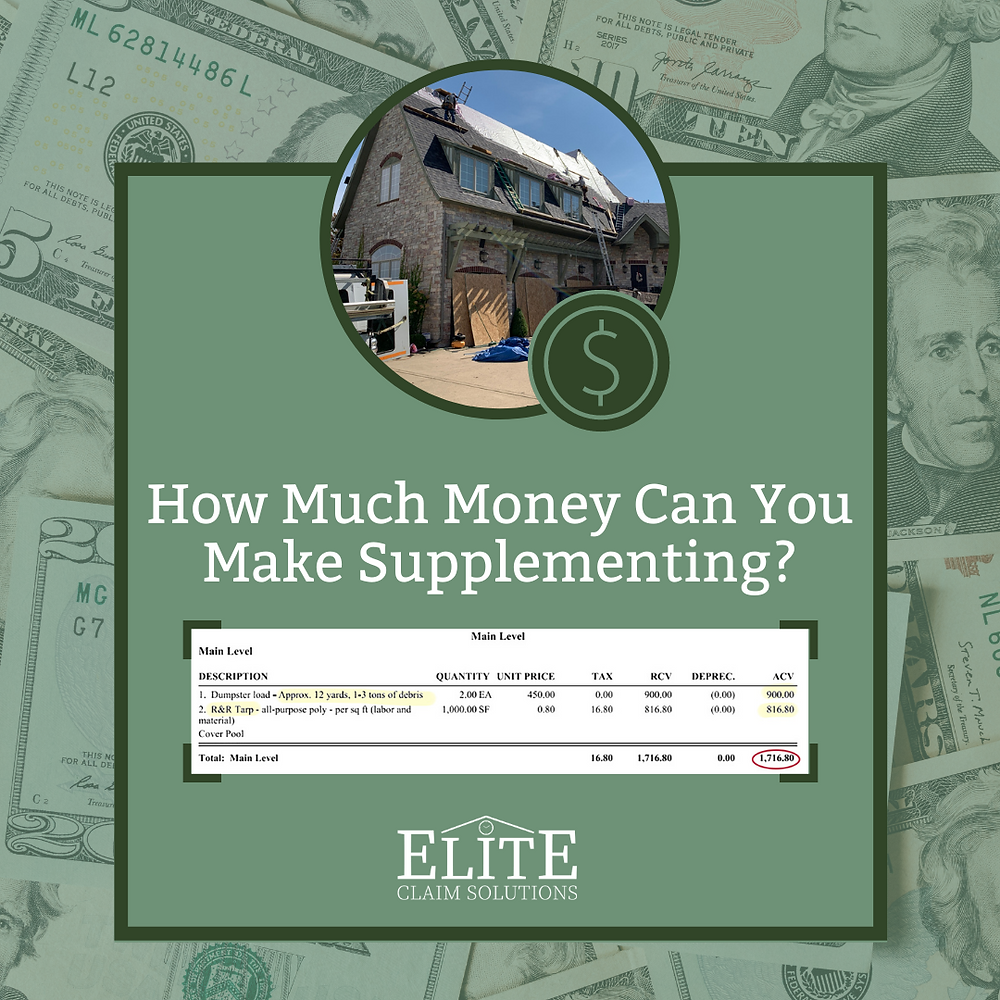 How much money can you make supplementing a roof?