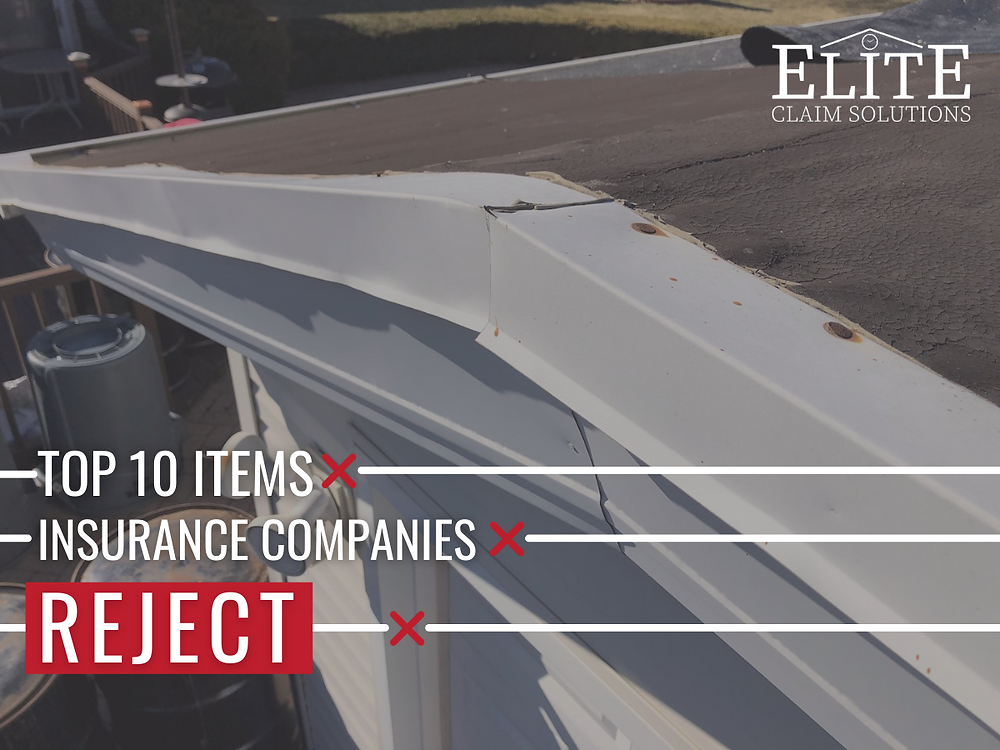 Roofing supplement list: top ten items denied by insurance companies and adjusters