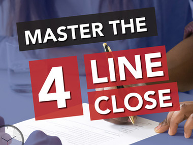 Roofing Sales Techniques: How to Master the Four Line Close