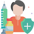 Vaccination protection icon