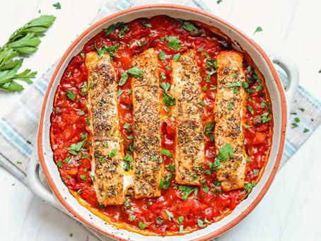 Mediterranean Baked Salmon