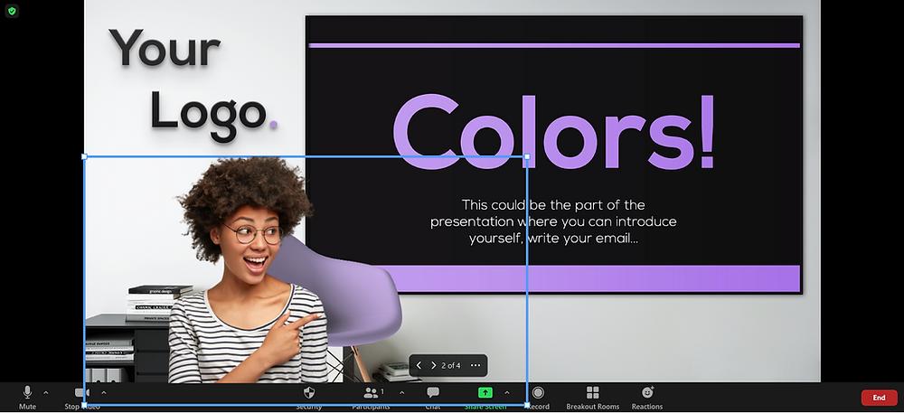 Share slides virtual background