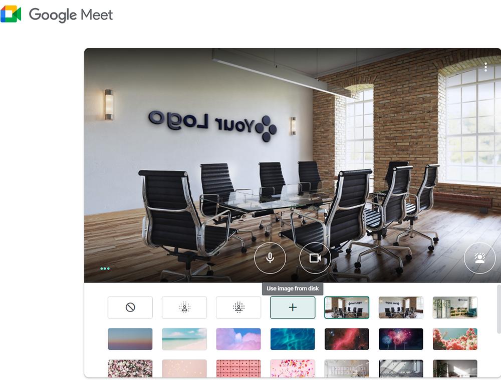 mirrored virtual background google meet