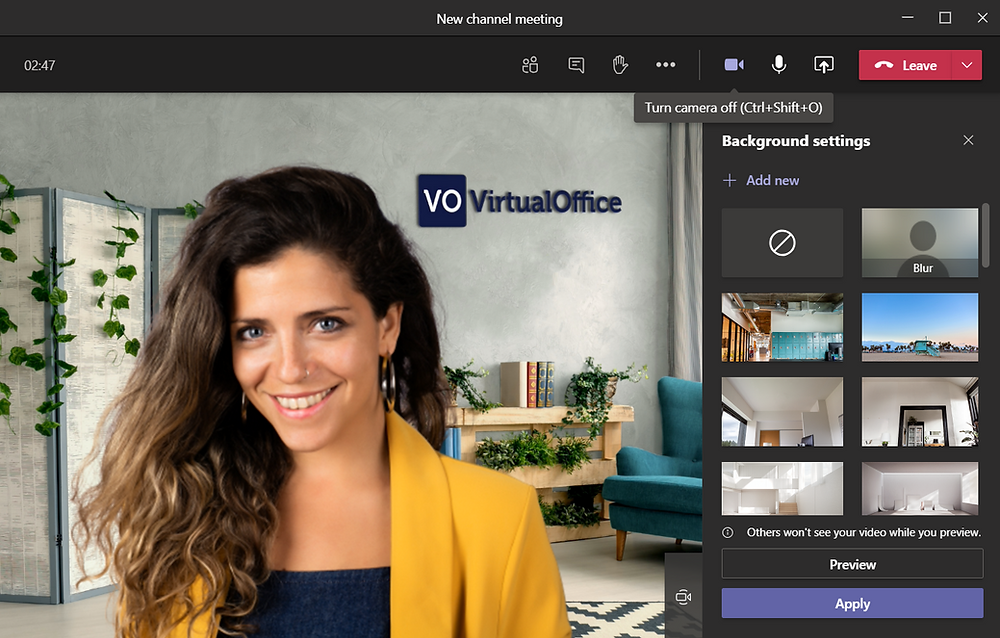Virtual background for microsoft teams