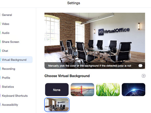How To Use Zoom Virtual Backgrounds - Virtual Office