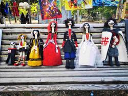 Тбилиси, арт-рынок. Куклы ручной работы.