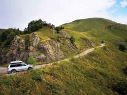 На горной дороге