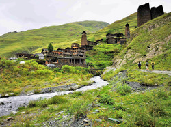 Тушети, высокогорное селение Дартло целиком - культурное наследие ЮНЕСКО