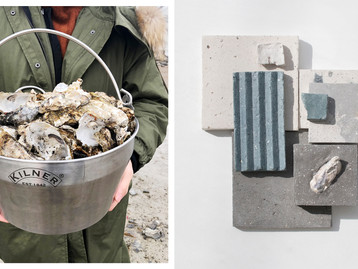 This concrete-like material was made from waste sea shells