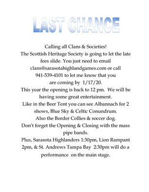 Calling All Clans & Societies