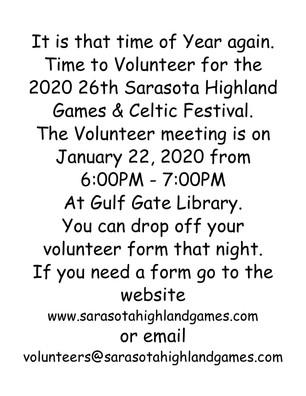 2020 Volunteer meeting