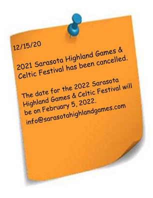 2021 Sarasota Games Cancelled