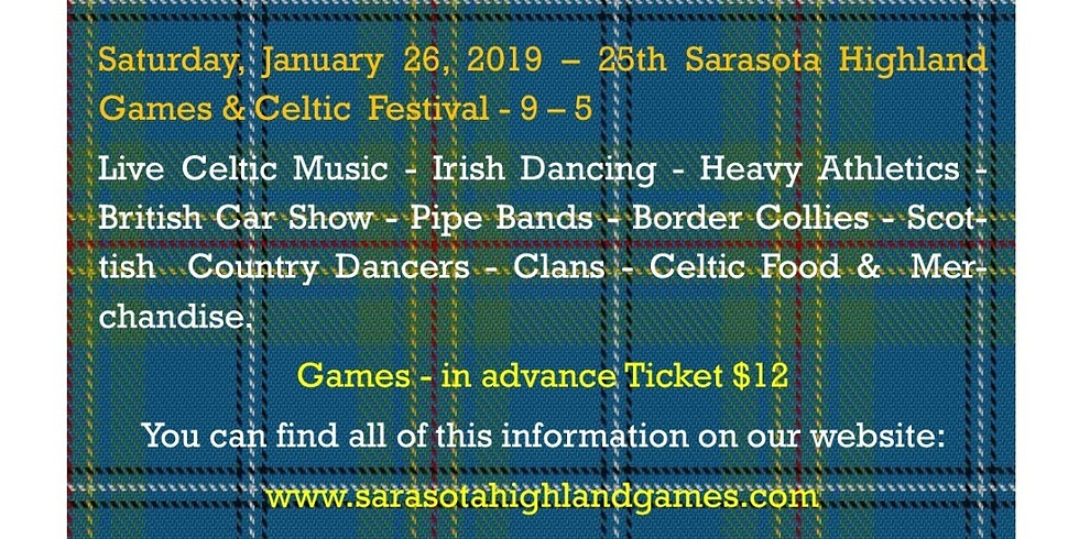 ONE DAY EVENT ONLY - 25th Sarasota Highland Games & Celtic Festival