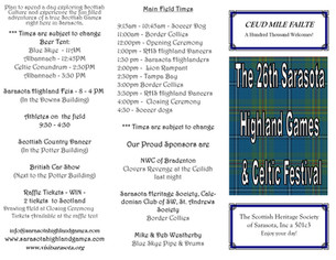 Sneak Peek for the 2020 Sarasota Highland Games & Celtic Festival