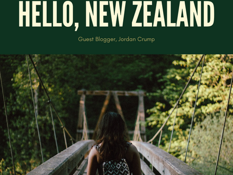 Hello, New Zealand (Guest Blog)