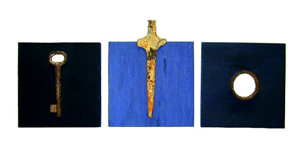 """""""Relics from Homeland"""" (1999) - 20 X 20 / 20 X 24 / 20 X 20"""