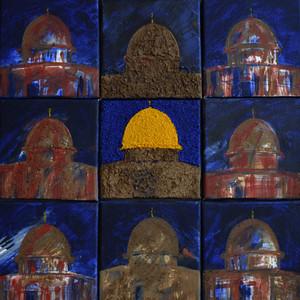 """""""Visages de Jérusalem"""" (2015) - 60 X 60"""