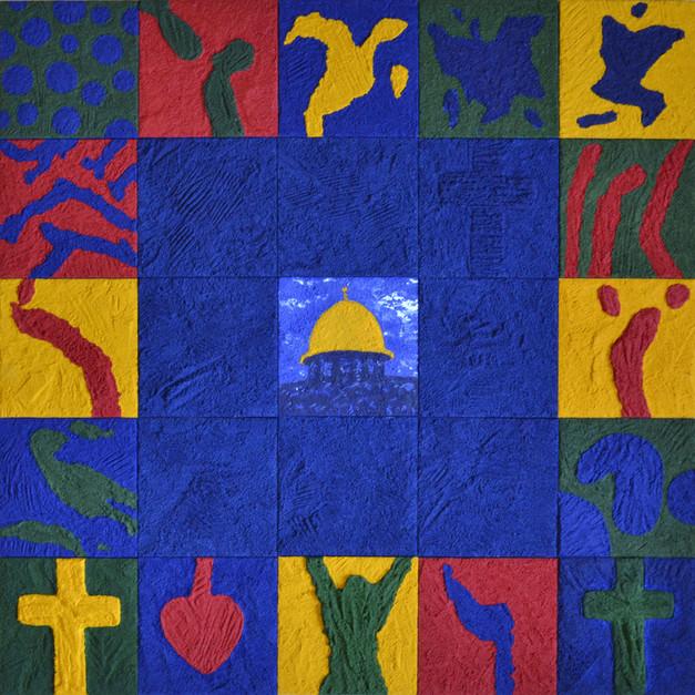 """""""Pictogrammes de Jérusalem"""" (2006) - 100 X 100"""