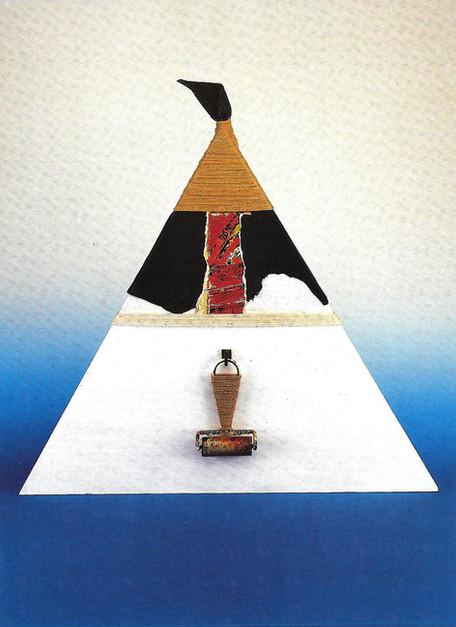 """""""Bridge between two Sentences"""" (1989) 54,5 X 47,5"""