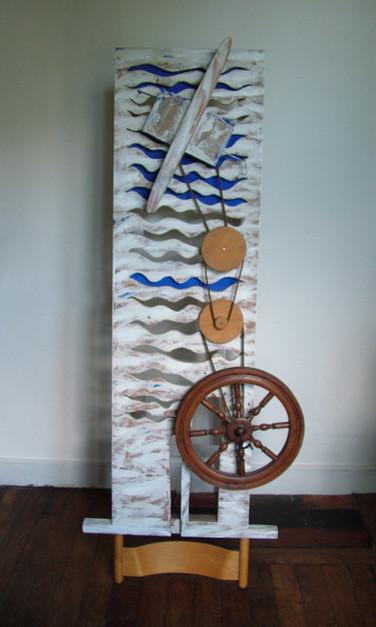 """""""Visages de la Mer"""" (1991) - 174 X 84,5 X 40"""
