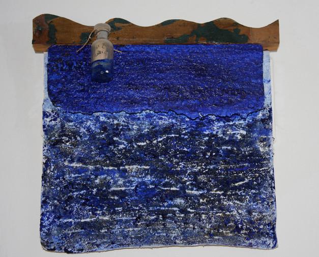 """""""La Bouteille à la Mer"""" (1990) - 34,5 X 36,5"""