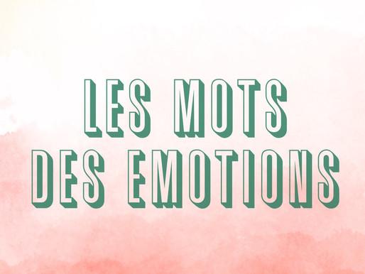 Les mots des émotions