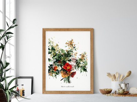 """Umore autunnale  Watercolor original painting on 100% cotton cold press paper, 140 lb, size 20""""x16"""",   This applies to the original painting without a frame.  Fine art print available on Saatchi Art as a reproduction of the original painting.  Printed on 100% cotton linters (short fibers) paper, 140 lb, soft color fidelity, archival quality"""