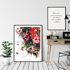 Blooming Bounty  The original painting has been sold. Fine art print available on Saatchi Art as a reproduction of the original painting.  Printed on 100% cotton linters (short fibers) paper, 140 lb, soft color fidelity, archival quality