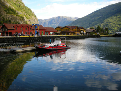 Flam harbour, deep inside Sognefjord